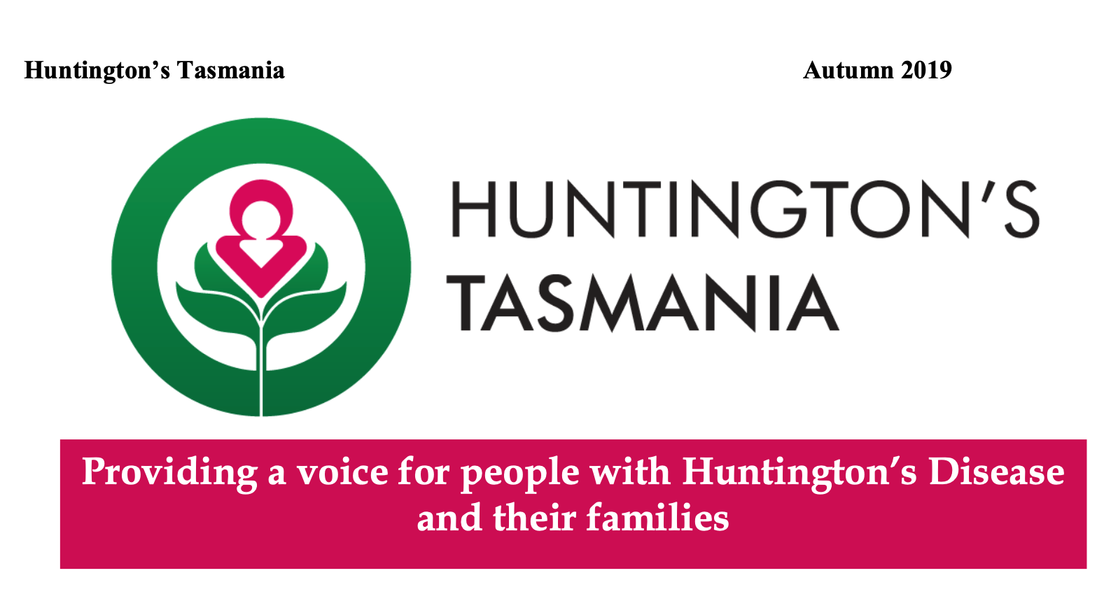 Huntington's Tasmania 2019 Newsletter